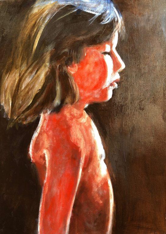 Portret van Dide. Eitempera onderschildering bij portret van Dide
