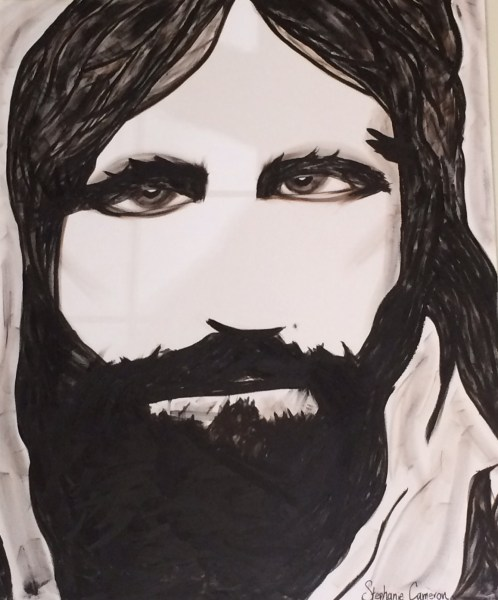 3X5' oil painting of the face of Jesus