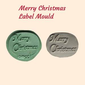 Merry Christmas Wording Silicone Mould