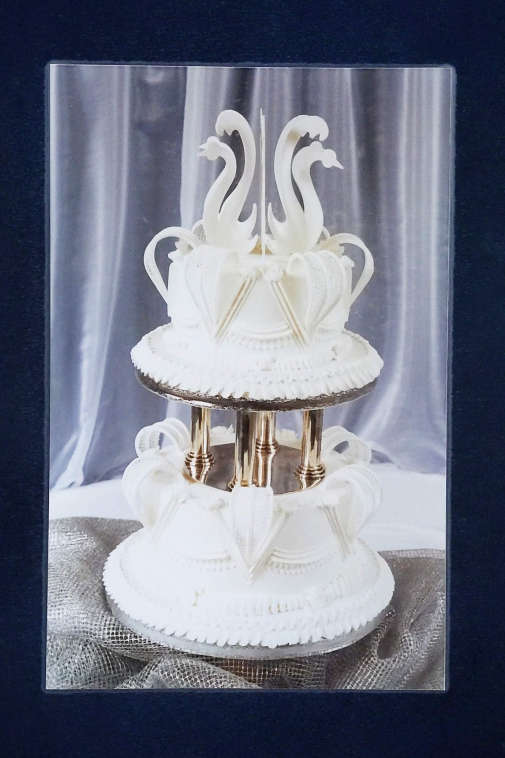 White Christmas Wedding Cake