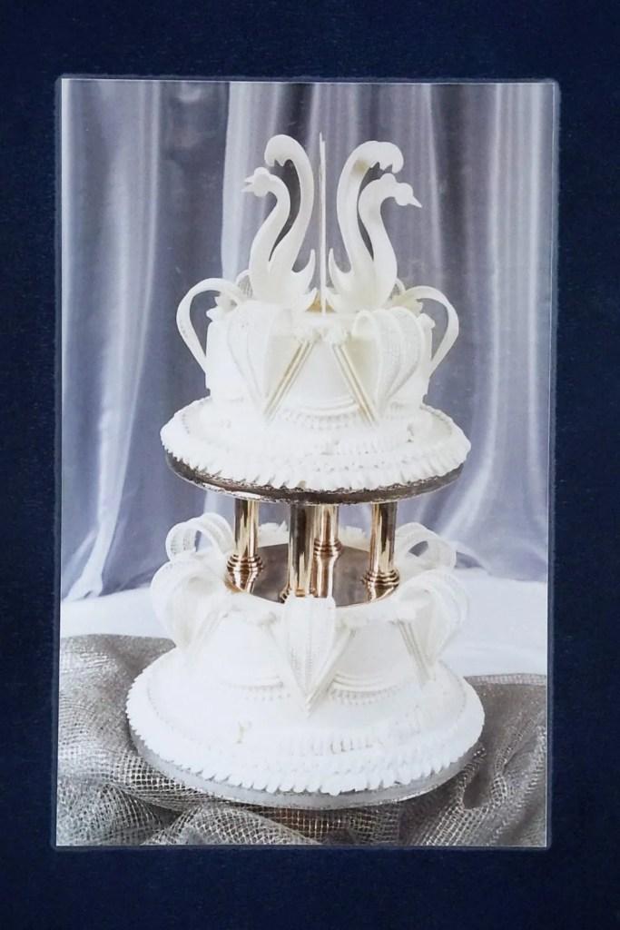 White Christmas Wedding Cake