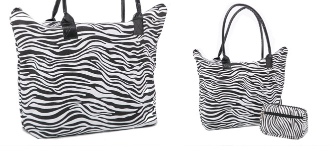 bolsas de playa animal print