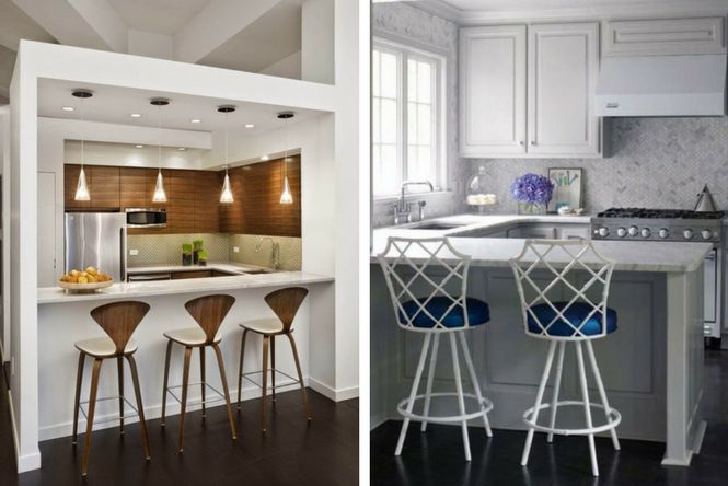 7 ideas para decorar cocinas modernas y peque as ellas - Ideas para cocinas muy pequenas ...