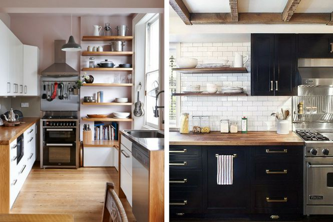 7 ideas para decorar cocinas modernas y peque as ellas for Estantes para cocina pequena
