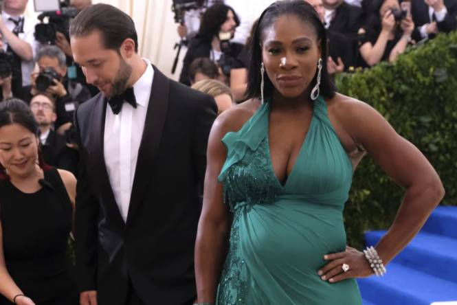 serena williams embarazada