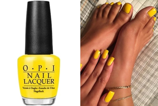 Sagitario: uñas color amarillo