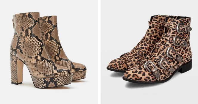 botines estampado animal