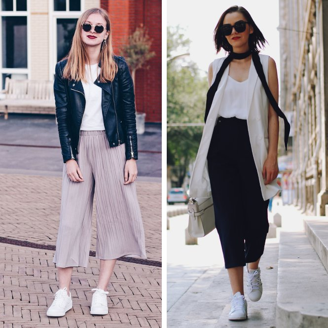 looks con zapatillas y culottes
