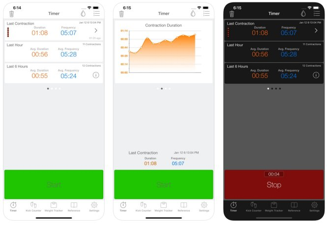 Full Term Contraction Timer app