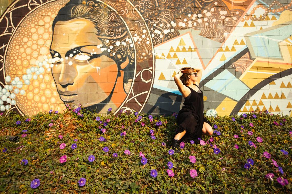 Artist Vera Vinot photographed by Ella Sophie, Oakland street portraits