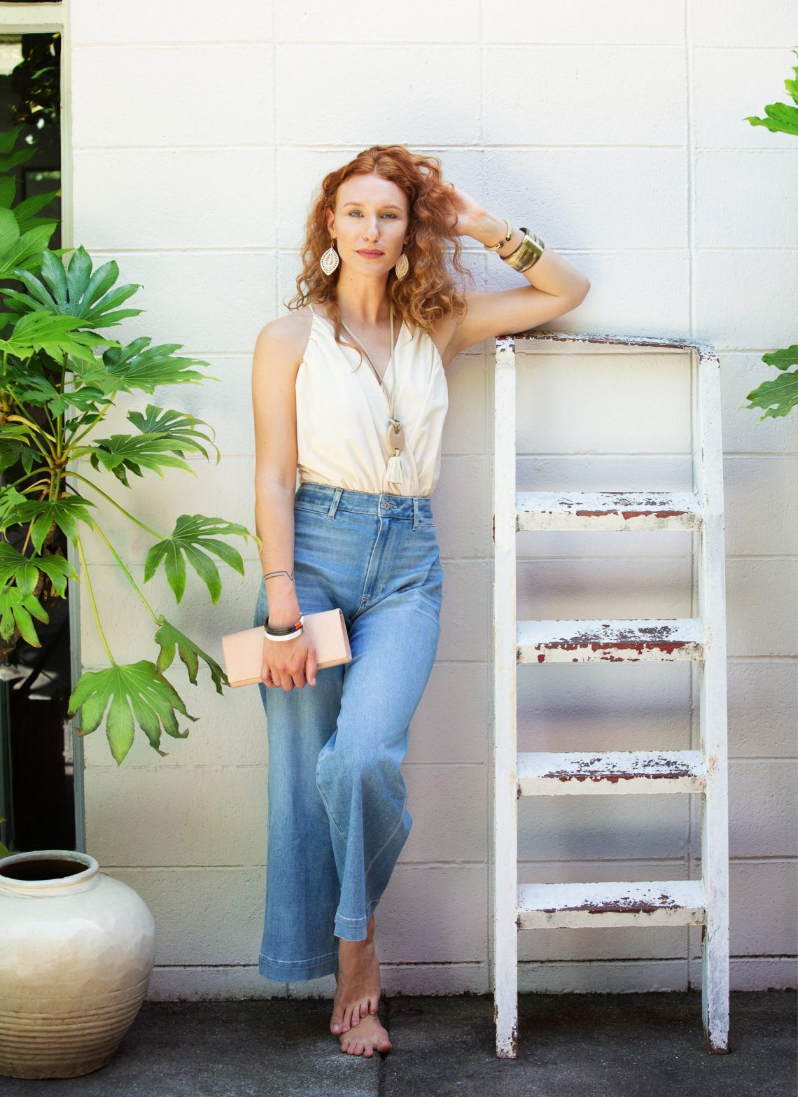 Marin Lifestyle Photographers Ella Sophie, Lisa modeling Vivo clutch and jewelry
