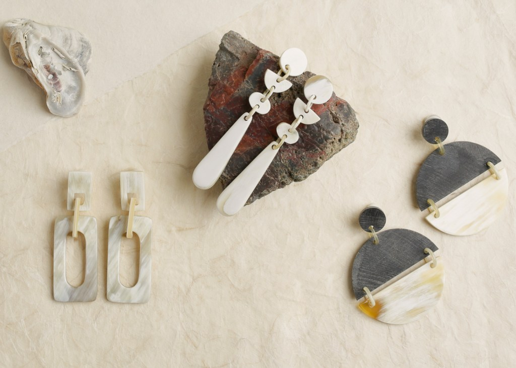 Horn Earring Jewelry still life photography by Ella Sophie San Francisco product photographers