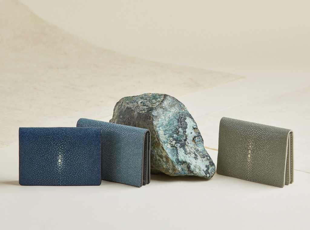 Shagreen and leather wallets, product still life photography by Oakland photographer Ella Sophie