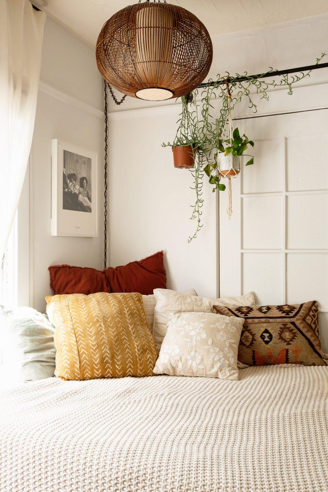 cozy bedroom nook by interior design artist Carrie Burch, Oakland CA