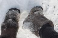 My shoes, 100% snow resistant - Moje boty, 100% sněhuvzdorné