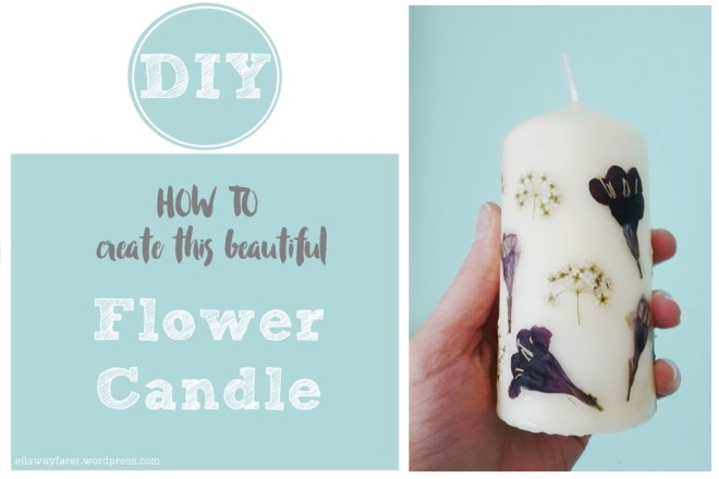 DIY PERSONALIZED FLOWER CANDLE