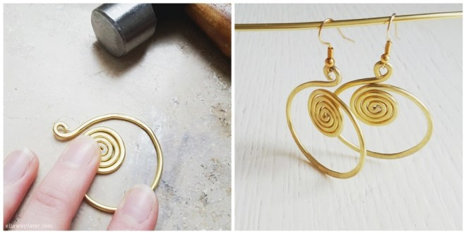 DIY BOHO SPIRAL EARRINGS WIRE