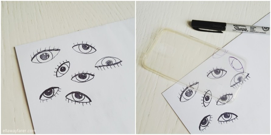 DIY | Eye Phone Case (Skinnydip-Recreation)