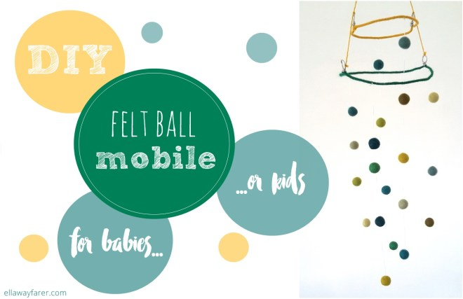 DIY | Felt Ball Baby Mobile
