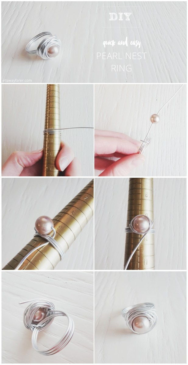 DIY | Easy Pearl Nest Ring