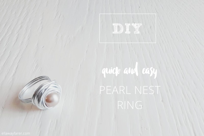 DIY | Easy Pearl Nest Ring | ellawayfarer.com