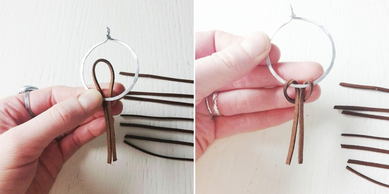 Fringe Suede Hoop Earrings | DIY