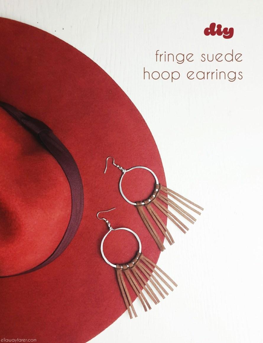 Fringe Suede Hoop Ohrringe | DIY