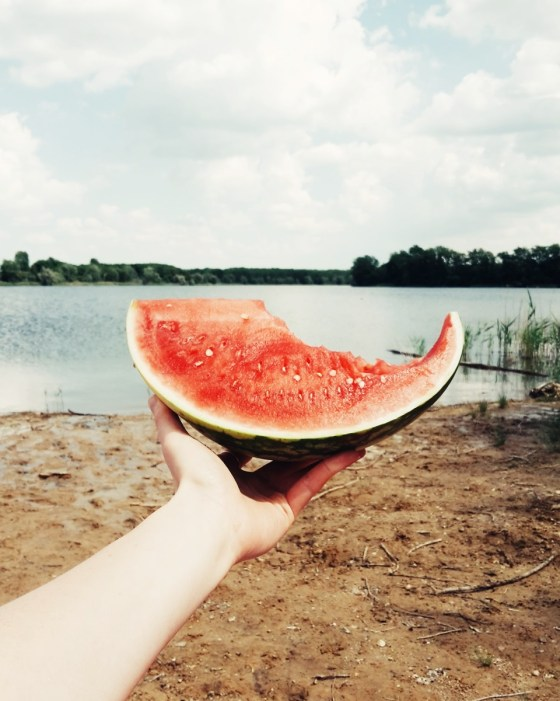 Melone, Sommer, Strand, See