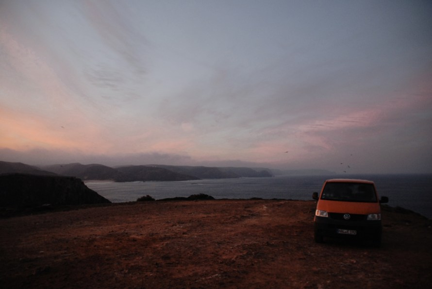 Living in a Van in Portugal: Sunrise at Praia do Amado