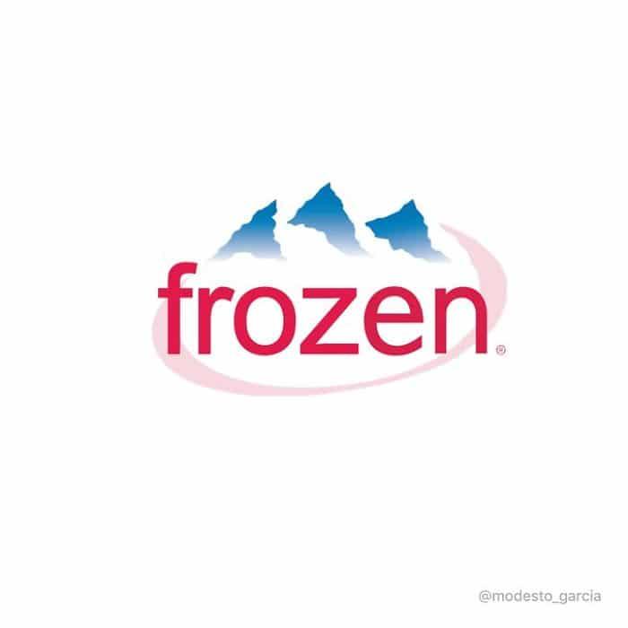 películas de Disney representadas por Logos frozen