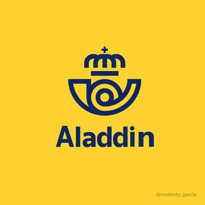 aladdin representado por Logo de Correos