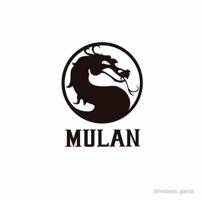 Logo de Mulan con logo de Mortal Kombat