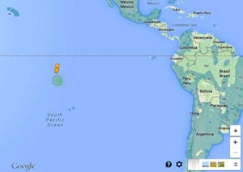 Pegman Google siendo lanzado en el Océano Pacífico