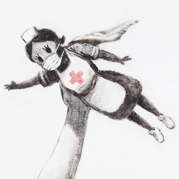 Banksy regala su nueva obra a un hospital inglés