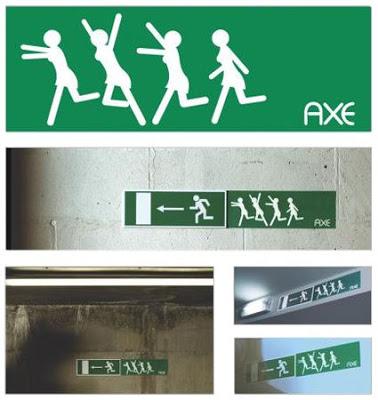 anuncio de axe letrero de exit