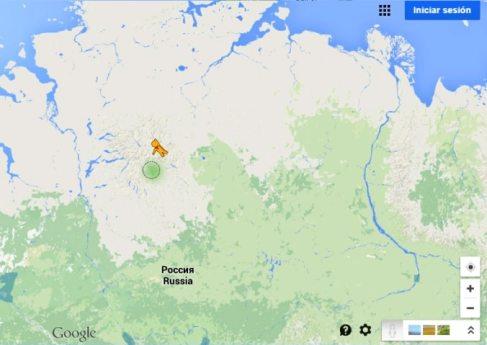 Pegman Google lanzado en la fría Siberia Rusa