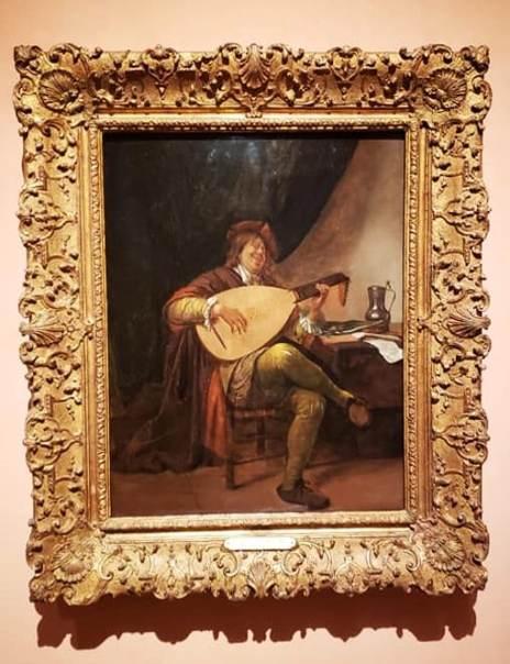 Autorretrato con laúd  de Jan Havicksz. Steen en el museo Thyssen