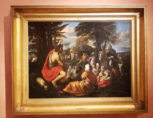 Cuadro en el Thyssen: San Juan Bautista predicando en el desierto de Pier Francesco Mola