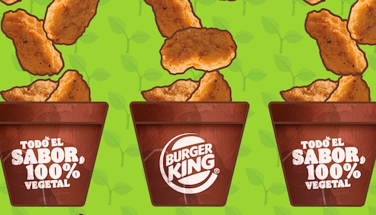 ¡It's raining nuggets 100% vegetales!