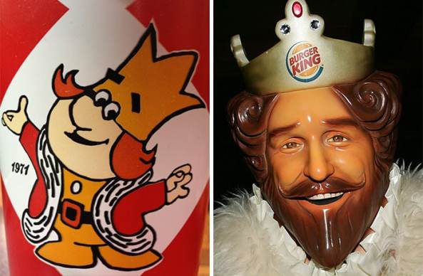 Evolución de las mascotas corporativas Burger King