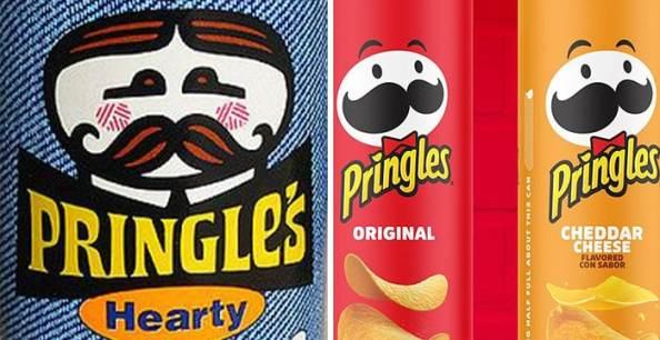 Evolución de las mascotas corporativas Pringles