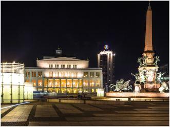 Oper, Gewandhausbrunnen und Augustusplatz