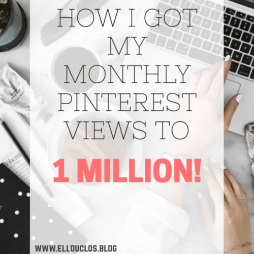 1 million monthly pinterest views