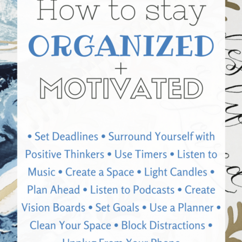 organization, motivation, and inspiration