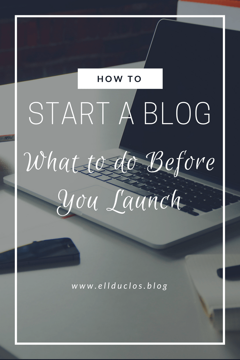 How to Start a Blog & What to do BEFORE Launch – 12 Days of Blog Tips