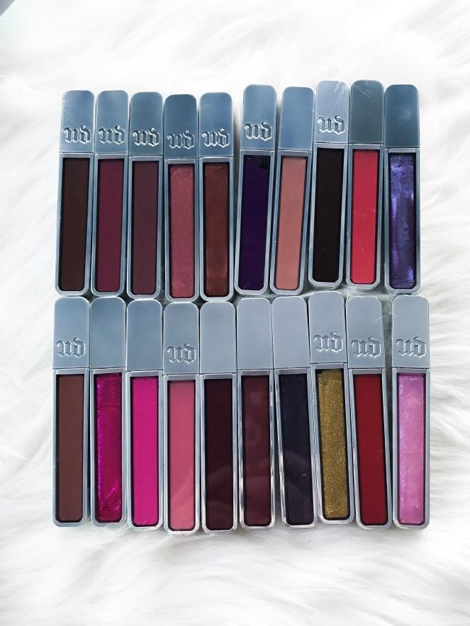 Urban Decay's Hi-Fi Shine Ultra Cushion Lip Gloss Review - Shade Range is so large - Beauty reviews.