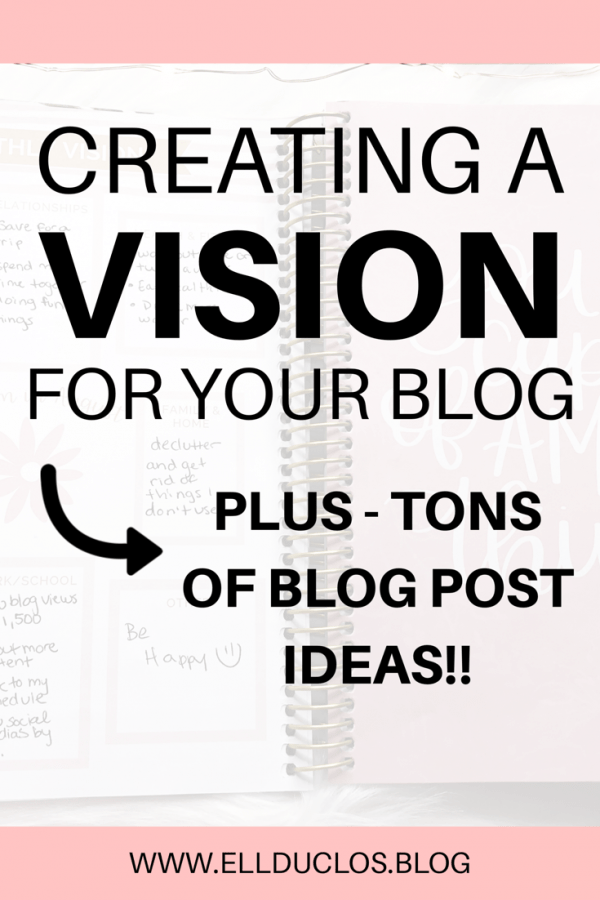 Creating a monthly vision for your blog, PLUS blog post ideas