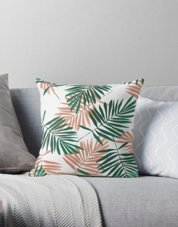 Boss Girl Palm - Throw Pillows