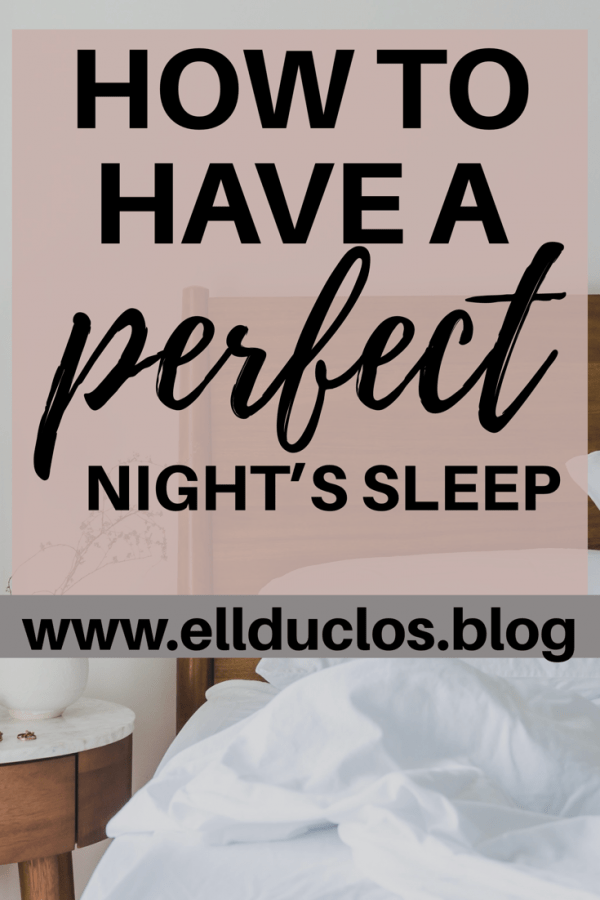 How to have a perfect night's sleep. Sleeping remedies to battle insomnia.