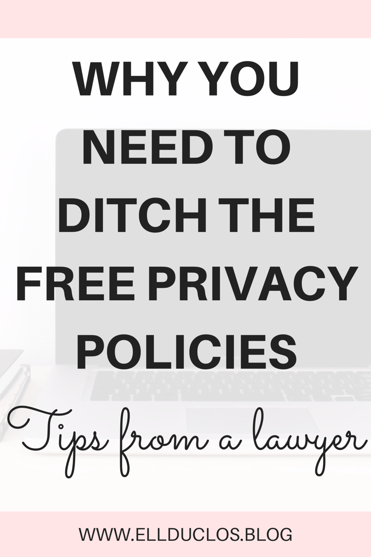 3 legal mistakes most bloggers make - tips from a lawyer - how to properly set up a privacy policy and disclosure